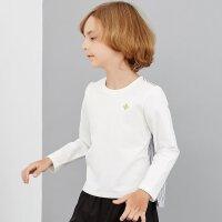 【1件4折叠券约:44.5,12日0点】米喜迪mecity童装男童t恤拼接条纹衬衫中大童外穿长袖t恤