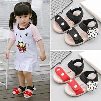 夏季宝宝凉鞋女童1-3岁软底公主鞋儿童0-2小童春秋婴儿鞋子学步鞋