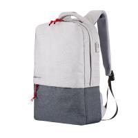 休闲双肩电脑包潮流男女15.6寸14多功能充电背包大学高中学生书包SN5541