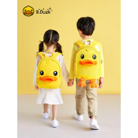 B.Duck小黄鸭幼儿园书包3D鸭嘴1-3-6岁小学生书包儿童双肩背包
