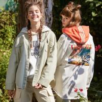 【5.16-5.17日抢购价:239.9】美特斯邦威女 MTEE-奇趣丛林 工装风外套