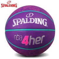 斯伯丁篮球nba4her系列橡胶球 室外女子6号l蓝球83-050y
