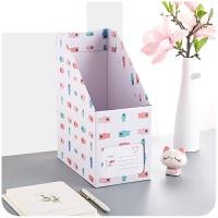 办公文具学生书立盒整理箱抽屉式书本文件夹桌面收纳盒纸质书架桌