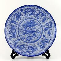景德镇陶瓷器挂盘装饰坐盘 现代中式粉彩青花瓷工艺品摆件多款