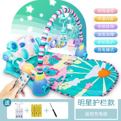 婴儿脚踏钢琴健身架器新生儿宝宝玩具0-1岁3-6-12个月男女孩