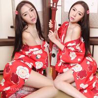 情趣内衣日式和服性感露乳制服诱惑sm小胸角色扮演激情骚日本套装