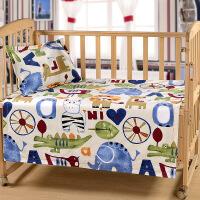 全棉老粗布婴儿床单单件纯棉宝宝凉席夏季幼儿园床单卡通儿童凉席