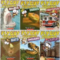 (198减40)苍蝇小子英文原版绘本 Fly Guy Presents 13册 儿童英文分级读物 儿童自然科普图画书