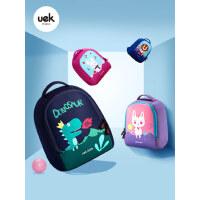 uek幼儿园男宝宝女孩韩版卡通恐龙书包轻便1-3-5岁儿童背包小书包