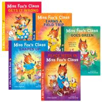 狐狸老师班上的那些事全5册 英文原版书 儿童故事书绘本 Miss Fox's Class 小学生保护环境 遵纪守法 少儿英语教育书籍 英文版原版