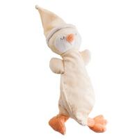 可优比婴儿安抚巾毛绒玩具玩偶布艺安抚手偶宝宝口水巾陪睡 团团鸡(科林黄)+