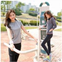 韩国00后卫衣休闲运动套装女运动套裙爬山跑步外套显瘦三件套