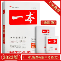 2020版一本中考语文 新课标版 中考训练方案9787553961996