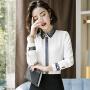 【限时抢购】职业衬衣女长袖工作服套装2019春夏新款衬衫时尚正装气质上衣女 衬衫