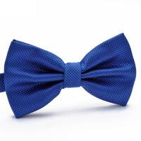 演出服蝴蝶结领结韩版英伦潮伴郎服宝蓝色领结正装男士蓝色领结