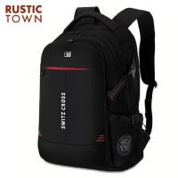 瑞士背包双肩包大容量时尚潮流初中学生书包女休闲旅行包电脑包男