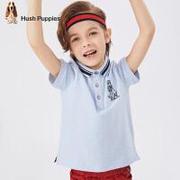 暇步士童�b夏季新款男童短袖POLO衫�r尚小清新撞色�_�y短袖POLO衫T恤�和�短袖T恤