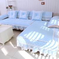 水晶绒蕾丝沙发垫韩式飘窗垫坐垫沙发垫客厅沙发坐垫