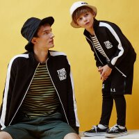 美特斯邦威旗下Moomoo童装亲子装男童中大童雷神休闲运动外套新款父子装