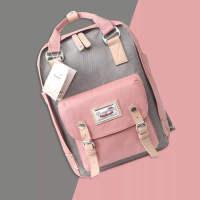 韩版新款女包时尚甜甜圈双肩包女式妈咪电脑包学生书包原宿风购物街包休闲旅游包