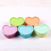 塑料爱心迷你保鲜盒子创意小礼品彩泥粘土橡皮泥盒 80ml颜色随机