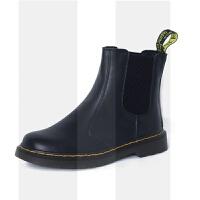 英伦ins马丁靴短筒女靴学院风真皮加绒秋冬切尔西靴短靴女套筒靴SN9124