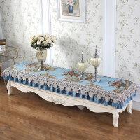雪尼尔蕾丝电视柜罩套长方形布艺餐桌垫家用方柜台布盖布防尘罩布