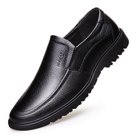 真皮男士皮鞋40中年爸爸鞋子50岁60中老年人70 80老人休闲男鞋