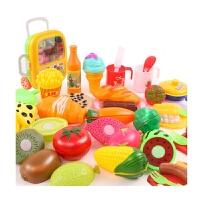 切切乐水果蔬菜玩具小女孩过家家厨房切切看拉杆箱儿童切水果玩具 豪华拉杆箱切切乐33件套-小厨具 送2盘子+1鸡蛋