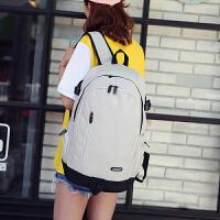 新款简约双肩包女韩版旅行电脑背包男初高中学生书包女校园大容量