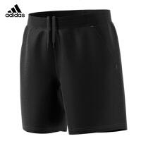adidas阿迪达斯羽毛球服运动裤男款跑步训练健身短裤 BR2565黑色短裤