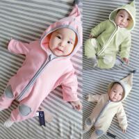女婴儿童运动开衫外套装卫衣服0岁6个月1秋冬装3连体衣宝宝春秋装