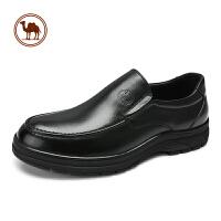 骆驼牌男鞋皮鞋男爸爸鞋子中老年真皮休闲男士防滑软底套脚男鞋秋