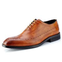 欧美男士正装皮鞋真皮英伦商务尖头鞋德比鞋牛津鞋固特异 36-47