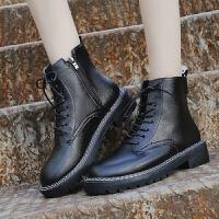 马丁靴 女士冬季时尚短靴2020新款欧美网红靴子粗跟皮靴英伦风靴子女鞋子