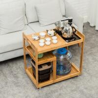 移动茶桌家用小茶台客厅茶几沙发边几带轮矮茶车功夫茶具泡茶套装