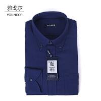 youngor/雅戈尔 新品衬衫 RM16231FKY男士休闲绒面棉加羊毛长袖衬衣