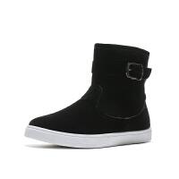 冬季雪地靴短筒男士加绒保暖棉鞋男马丁棉靴东北面包鞋