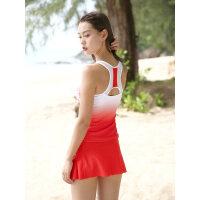 李宁泳衣女分体保守裙式小胸聚拢学生运动游泳衣遮肚显瘦女士泳装