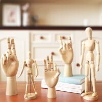 北欧创意家居木质手摆件木头装饰品书房摆设饰品办公桌木制工艺品