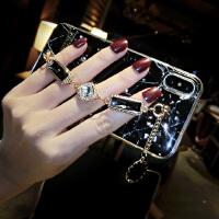 韩国苹果X手机壳女链条iPhone6splus全包防摔7p明星8水钻 iphone 7/8(4.7)