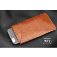 苹果8 7 6S Iphone6SPlus手机皮套7plus直插套 双层保护套 双机包 5.5寸 立体双层 咖啡