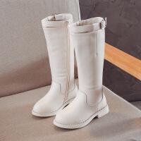 【活动价:126】儿童靴子女童靴子童鞋秋冬加绒皮高筒靴儿童棉靴马丁靴公主长靴