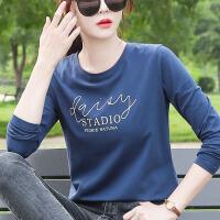长袖t恤女士韩版宽松春秋装2020年新款纯棉打底衫百搭上衣服