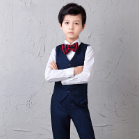 儿童西装春韩版小宝宝中大童礼服男童西服套装钢琴演出服花童男孩SN3730