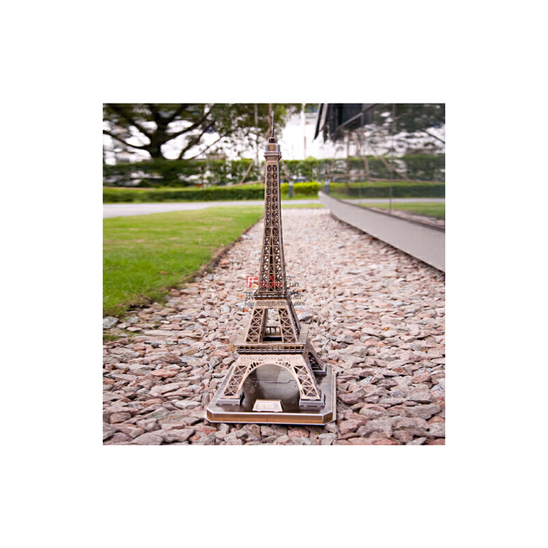 乐立方3d立体拼图巴黎埃菲尔/艾菲尔铁塔模型 早教礼物智力玩具_mc091