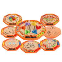 儿童跳棋飞行棋木制游戏棋五子棋象棋斗兽棋儿童玩具