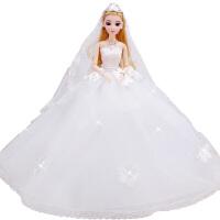 依甜芭比娃娃婚纱公主套装大礼盒女孩生日礼物儿童玩具洋娃娃单个 12关节3d真眼*品