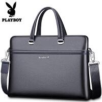 男皮包男士手提包公文包横款单肩包斜挎包电脑包背包