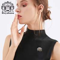 皇家莎莎胸针女仿水晶胸花领针刺猬小动物别针时尚配饰品生日礼物